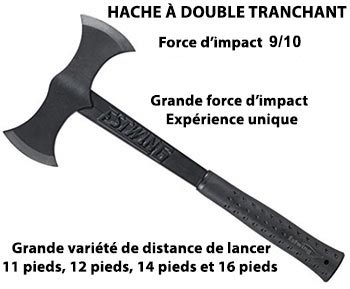 hache double tranchant