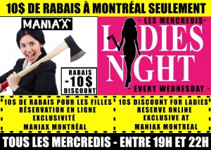 Axe Throwing Special Ladies Night